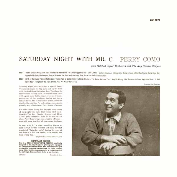 Saturday Night With Mr. C. ~ LSP-1971