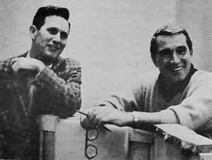 "~ Chet Atkins and Perry between ""takes"""